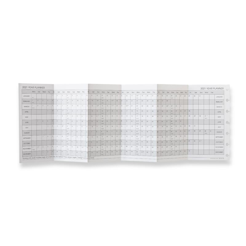 2020 Circa Monthly Tabs Pullout Calendar, Compact
