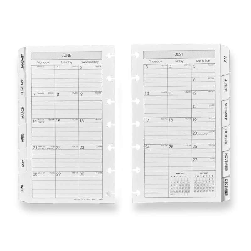 2021 Circa Monthly Tabs Pullout Calendar, Compact