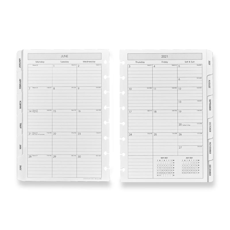 2021 Circa® Monthly Tabs Pullout Calendar, Junior
