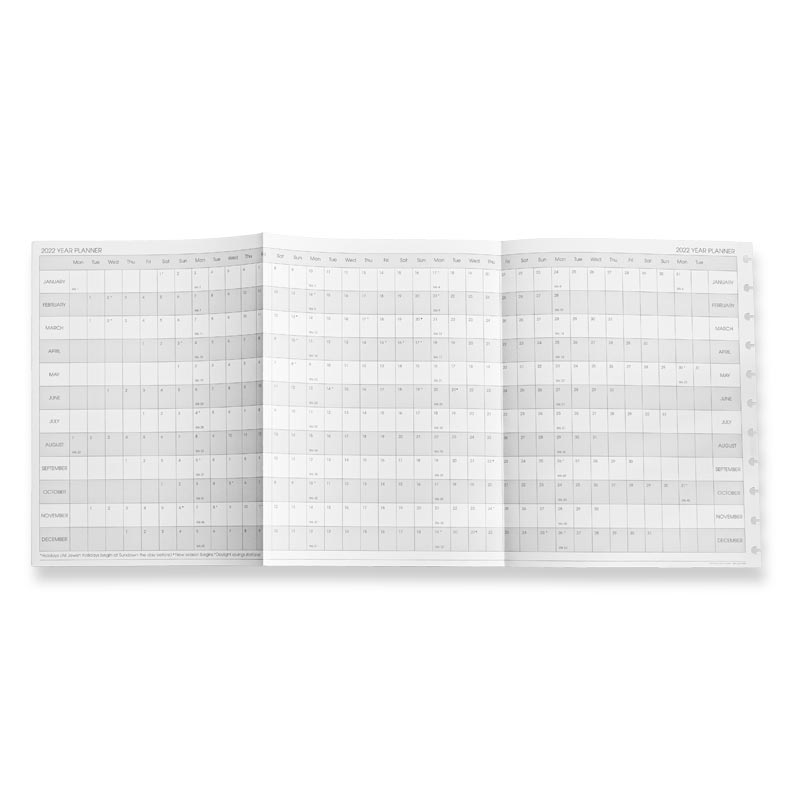 2021 Circa Monthly Tabs and Pullout Calendar, Letter