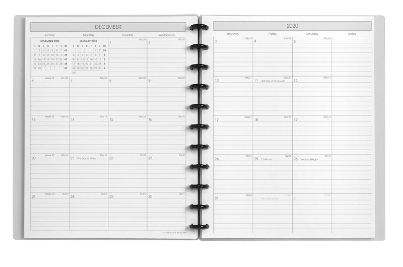 Circa Sunday Start Monthly Agenda Notebook