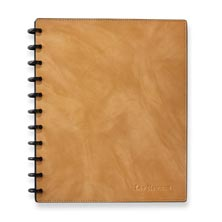 Circa Smooth Sliver Notebook with Pockets-Caramel
