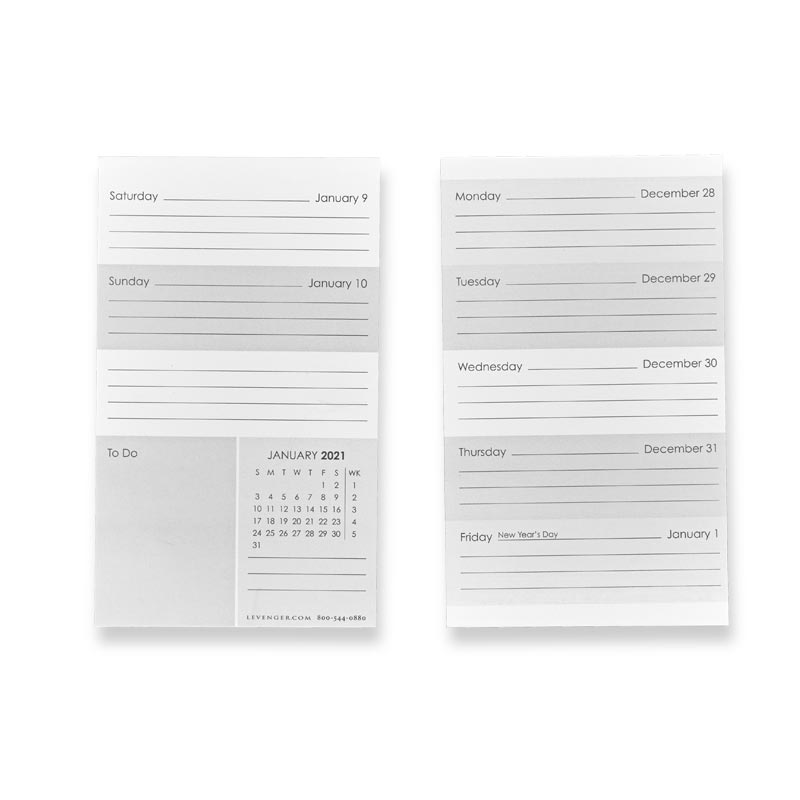 3X5 Weekly and Monthly Calendar Cards - 2021