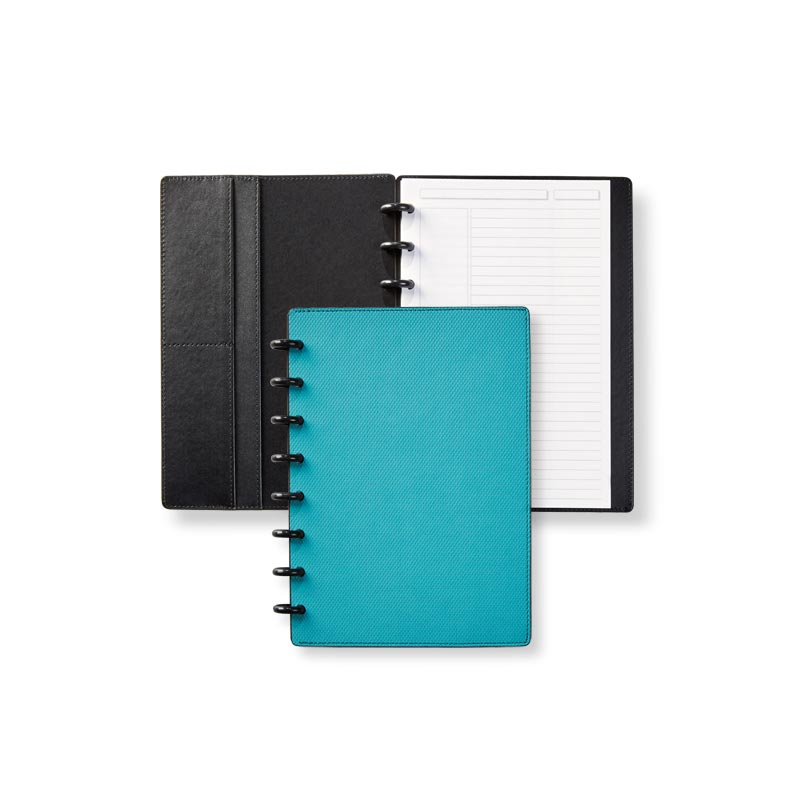 Circa® Impressions Sliver Notebook with Pockets - Aqua