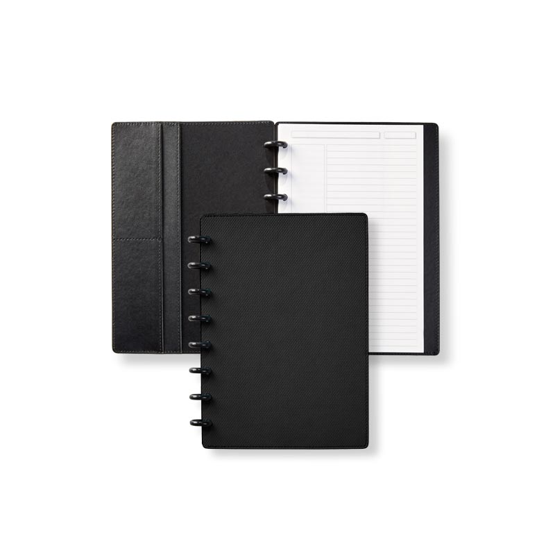 Circa® Impressions Sliver Notebook with Pockets - Black