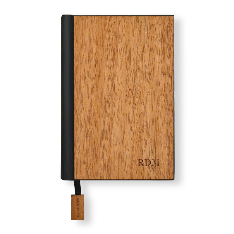 Real Wood Pocket Journal - Mahogany
