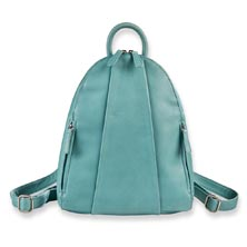 Marley Teardrop Multi-Zip Backpack, Azure Blue