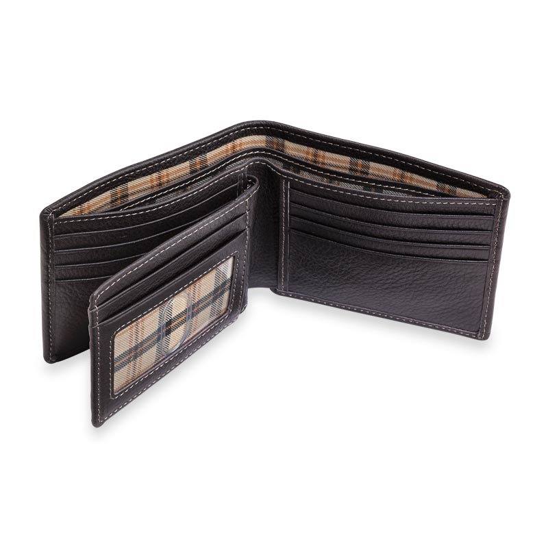 Bomber Jacket Flip ID Wallet with RFID Protection - Mocha