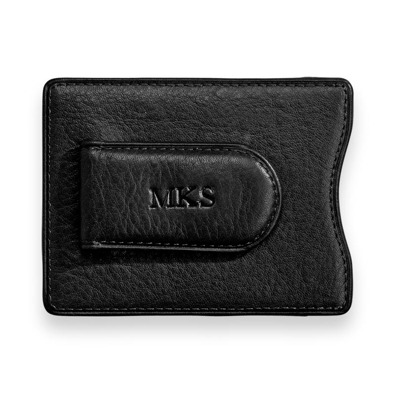 Privacy Magnetic Money Clip Wallet - Black