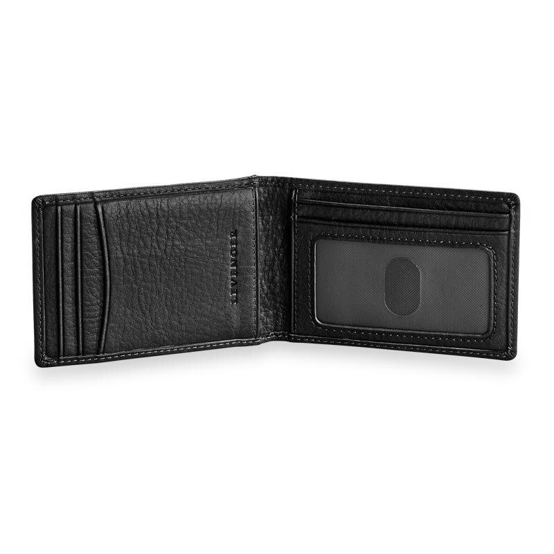 Privacy Billfold Wallet with Magnetic Money Clip - Black