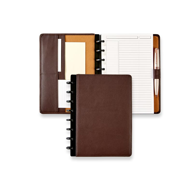 Circa® Luxe Leather Foldover Notebook in Midnight Blue, Junior