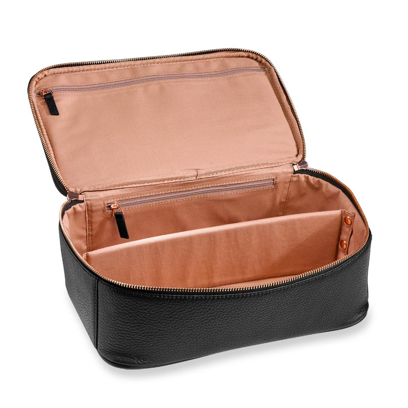 Duo Travel Cases, Black/Rose Gold (set of 2)