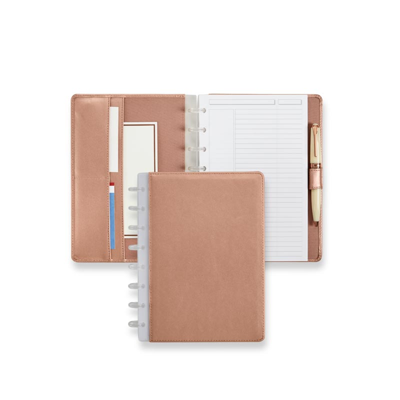 Circa® Rose Gold Foldover Notebook - Junior