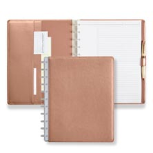 Circa® Rose Gold Foldover Notebook - Letter