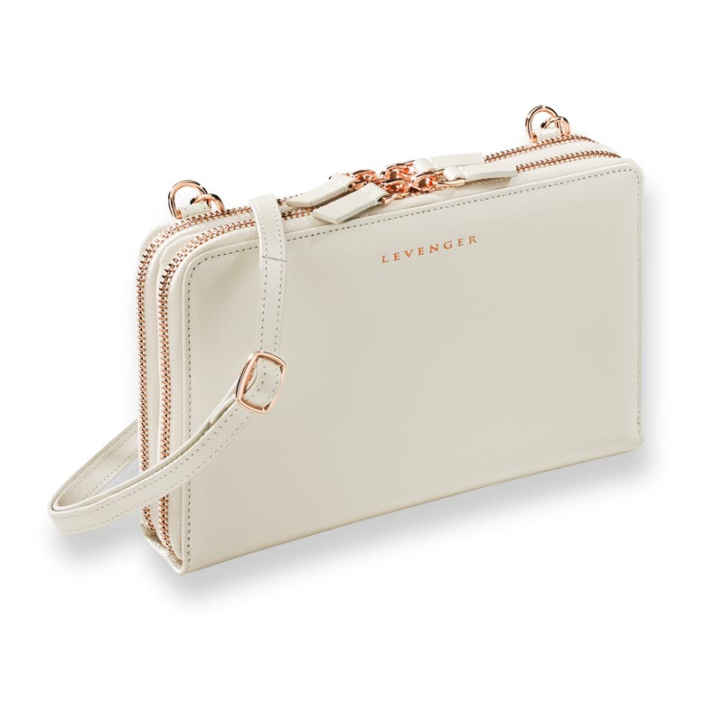 Carrie Convertible Clutch - Pearl White