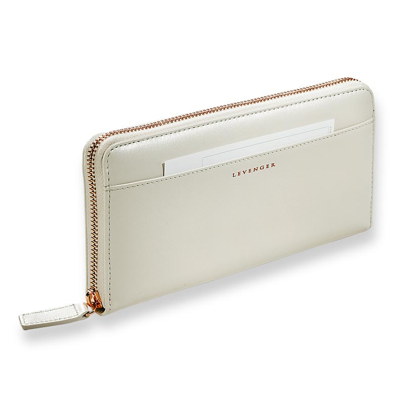 Pearl White Accordion Wallet