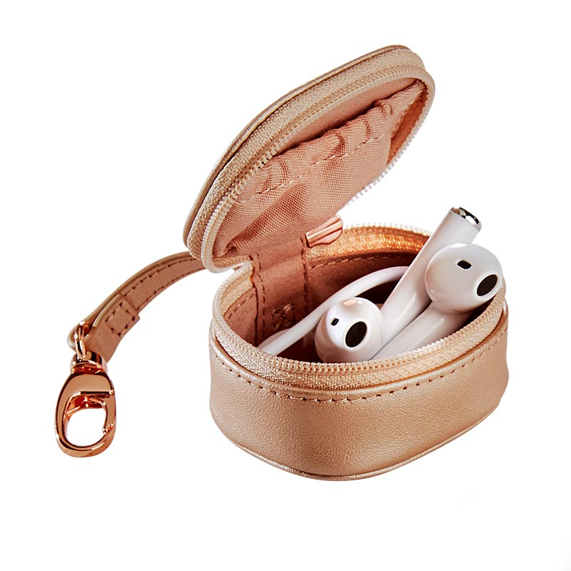 Rose Gold Zip-N-Store Earbud Holder 2.0