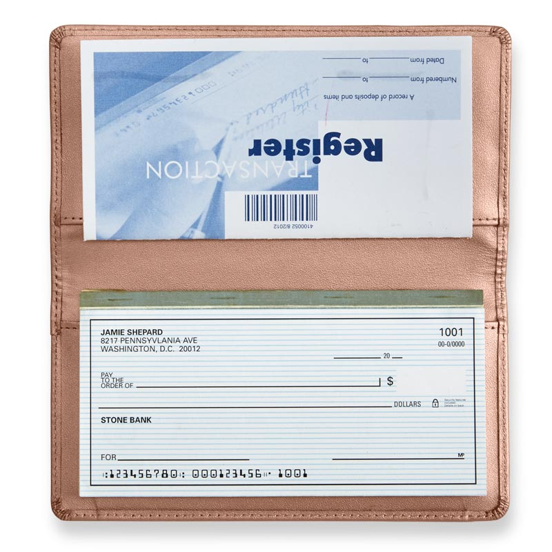 Rose Gold Checkbook Cover