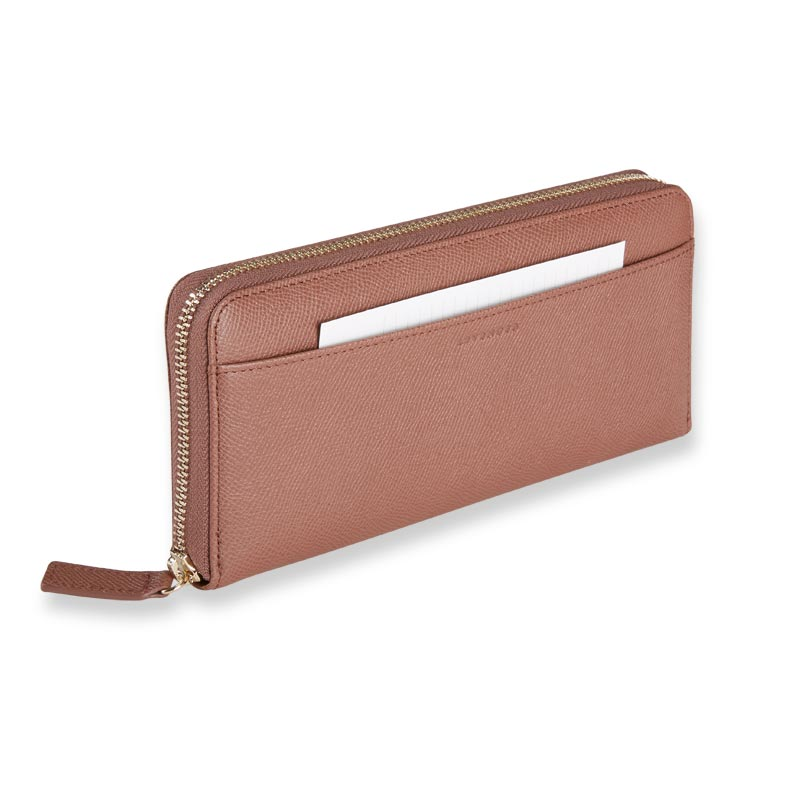 Charlotte Accordion Wallet - Rose Taupe