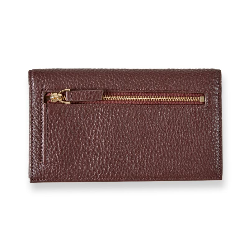 Carrie Checkbook Card Wallet - Oxblood