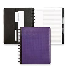 Circa® Basketweave Foldover Notebook Purple Letter