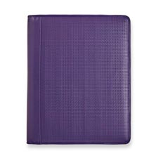 Basketweave Executive Folio Purple