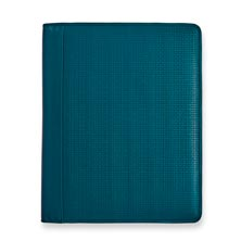 Basketweave Executive Folio Teal