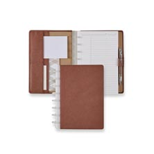 Circa® Rose Taupe Leather Foldover Notebook