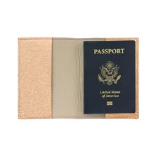 Metallic Leather Passport Cover