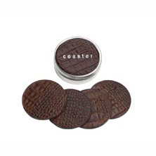 Croc Embossed Leather Coasters
