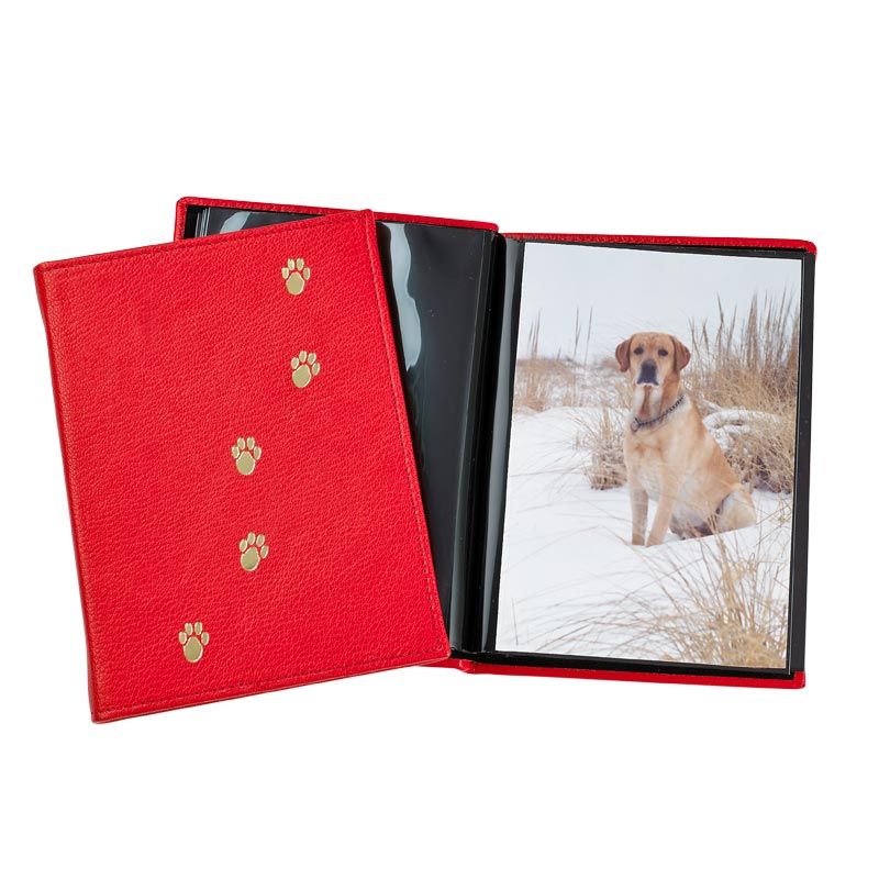 Red Leather Pet Brag Book