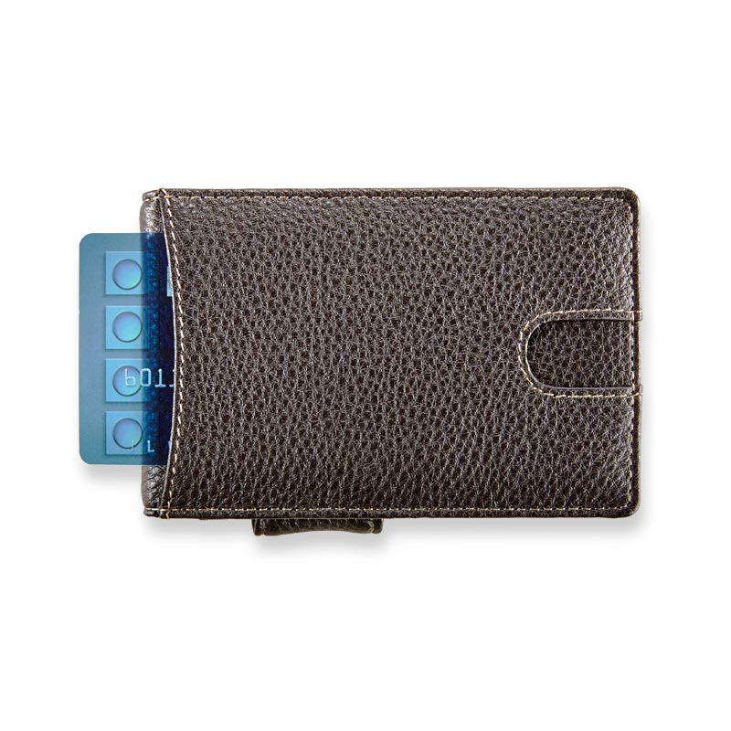 Bomber Jacket Quick Access Wallet with Money Clip