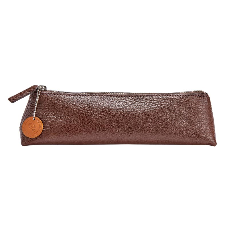 Leather Triangle Travel Storage Pouch