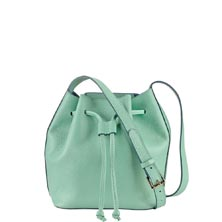 Jenn Mini Leather Bucket Bag
