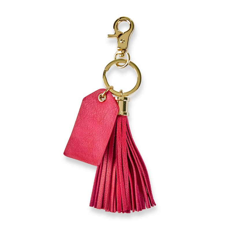 No Hassle Tassel Leather Keychain