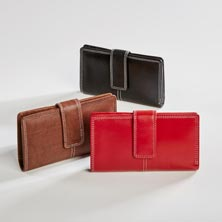 Sutton Leather RFID Tri-fold Wallet