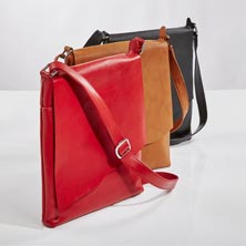 Sutton Leather Raw Flap Crossbody