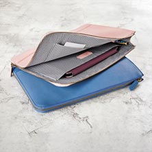 Prestige Leather Briefolio - Pink Whisper