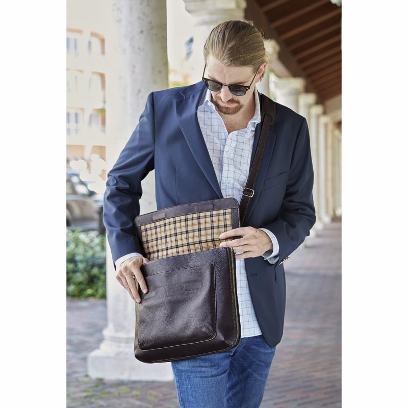 Bomber Jacket Expandable Laptop Messenger Bag
