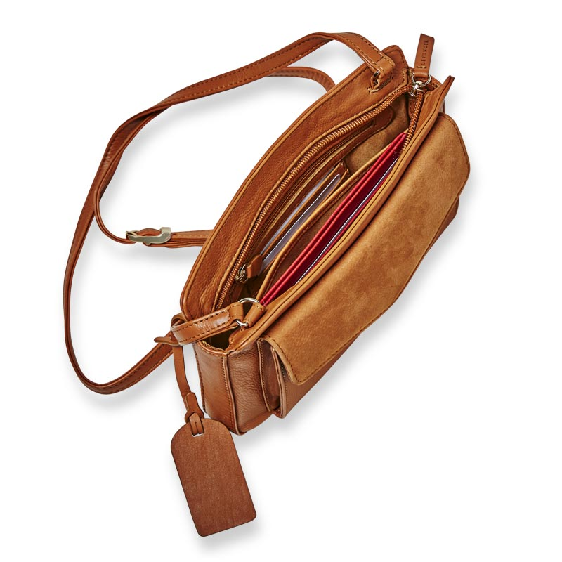Manor Leather and Suede Flap Phone Bag