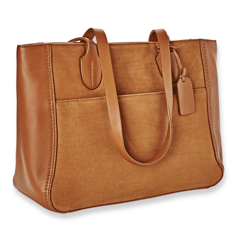 Manor Leather and Suede Tote