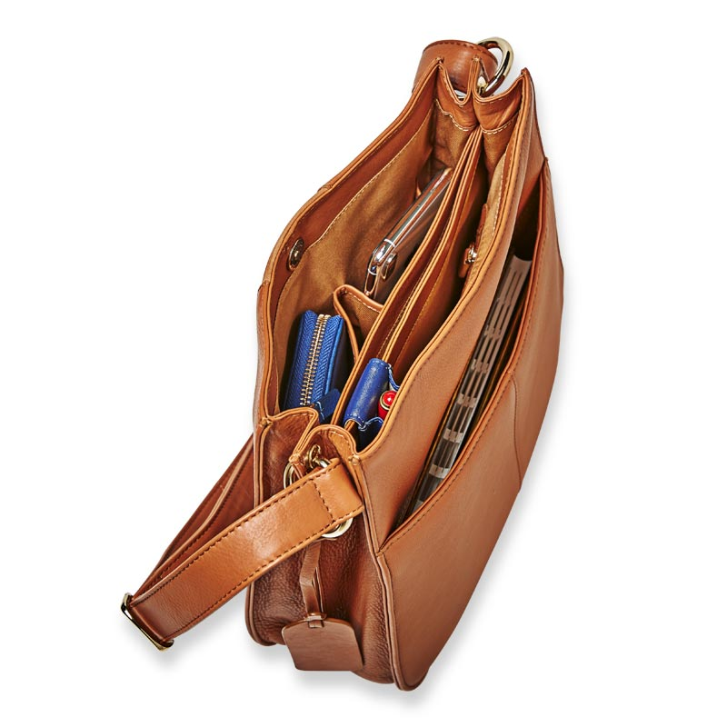 Manor Leather and Suede Shoulder Bag