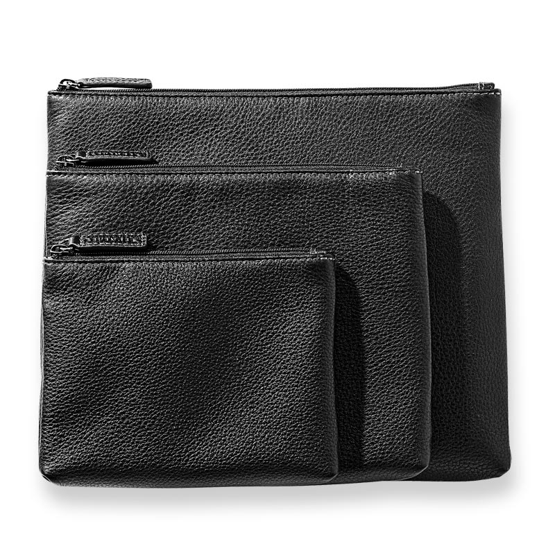 Bomber Jacket Carry All Pouches Set of 3 - Black