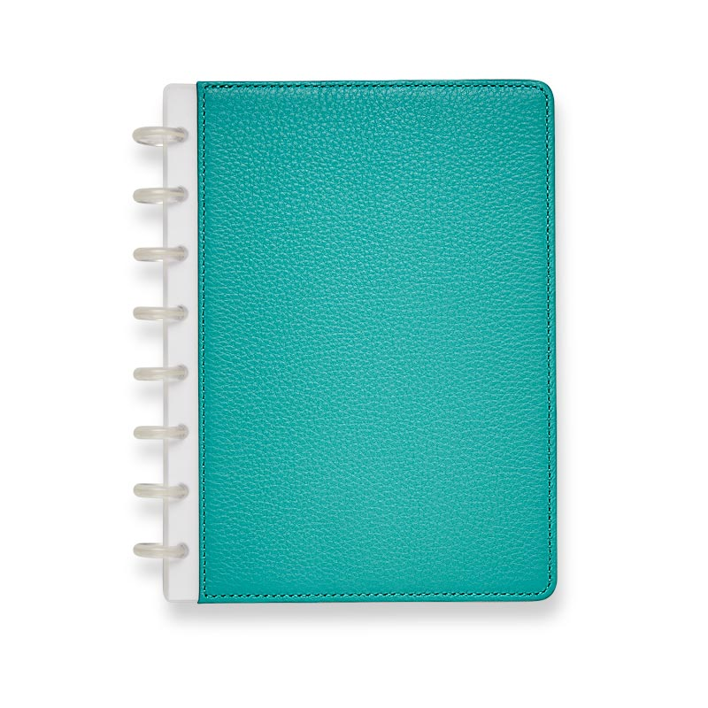 Circa Pebbled Leather Foldover Notebook