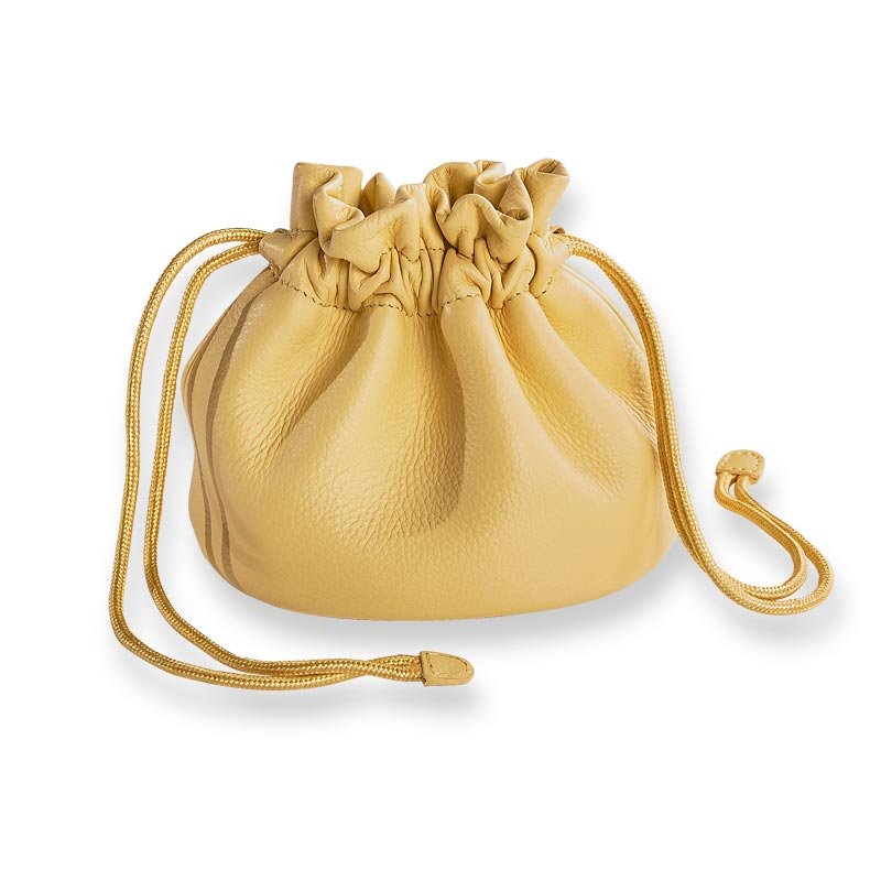 Harper Leather Drawstring Pouch
