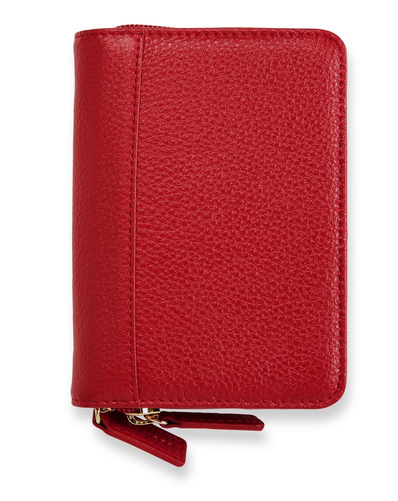Carrie Leather Pen Case - Chili Pepper