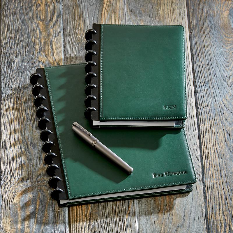 Circa Leather Foldover Notebook, Pine