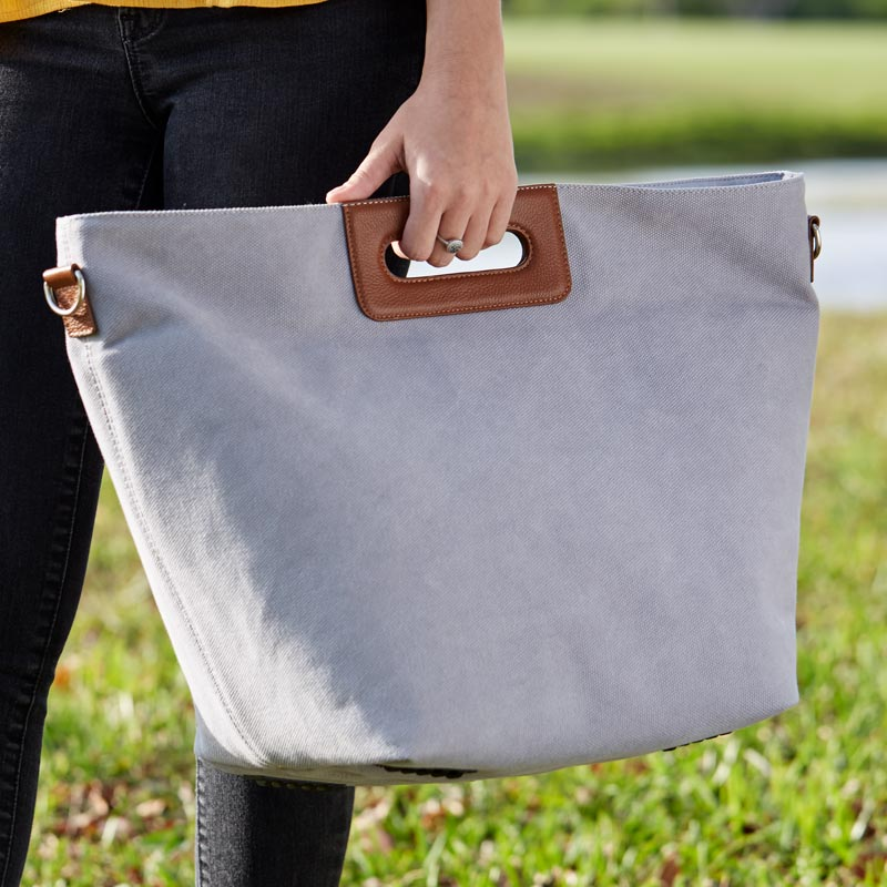 Convertible Canvas Tote-to-Bin