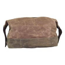 Waxed Canvas Top-Zip Dopp Kit
