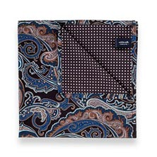 Microfiber Pocket Square - Black Paisley
